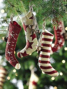"crisp-air-fallen-snow: "" Stocking ornaments on We Heart It. """