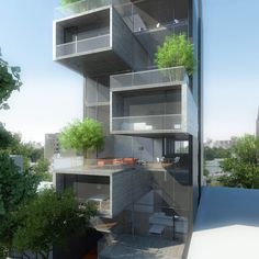 Image 14 of 15 from gallery of Under Construction: Dorrego 1711 Building / Dieguez Fridman. Photograph by Dieguez Fridman Facade Architecture, Amazing Architecture, Exterior Design, Interior And Exterior, Building Rendering, Modern Bungalow Exterior, Container Buildings, Villa Design, Small House Design