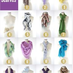 How to wear scarves!!