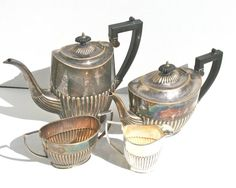 SALE 20 OFF Antique Cheltenham Silver Tea & by MellowMermaid