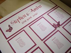 The Creative Spirit: Hand Made Seating Plan with Calligraphy for Weddings