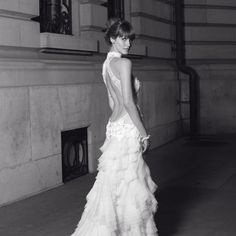 Delightful backless dress...
