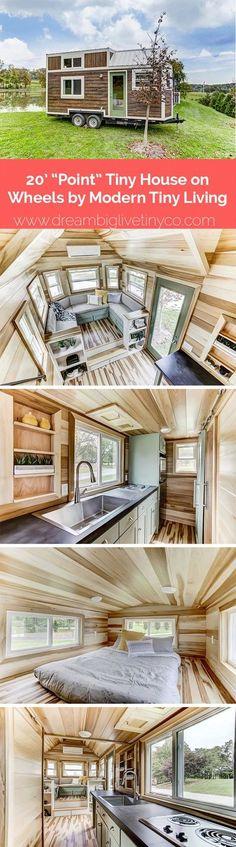 Small Tiny House, Modern Tiny House, Tiny House Living, Tiny House Plans, Tiny House On Wheels, Living Room, Small Houses, Tyni House, Cozy House