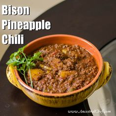 I'm a fan of fruit in my chili (see my Raspberry Liver Chili Recipe), and so I decided to experiment a bit more with that theme for this recipe. Have you t