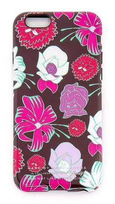 A hardshell Marc by Marc Jacobs x Disney® iPhone case with an illustrated floral print and logo lettering, inspired by Alive in Wonderland.