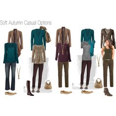 Soft Autumn Casual Options by nofailformula on Polyvore
