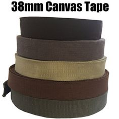38mm Canvas Tape (1m/2m/5m/10m) Webbing, Straps, Belts, Decoration, Craft, Bunting, Sewing, Trim Edge, Bag Handles