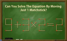 Can you solve these 5 matchstick puzzles riddles? Genius Matchstick Puzzle Riddles with answer. Move only one matchstick and make the equation correct. Take the challenge and solve these best matchstick puzzles. Difficult Riddles With Answers, Math Riddles With Answers, Jokes And Riddles, Funny Riddles, Jokes Kids, Funny Puns, Funny Facts, Brain Teasers Riddles, Games