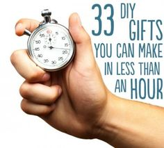 33 DIY Gifts That Take Less Than An Hour To Make