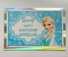 Frozen Birthday Card