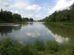 Mündung der Bode in die Saale in Nienburg