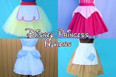Disney-inspired Aprons.. this way, I'll enjoy spending all that time in the kitchen (: lol