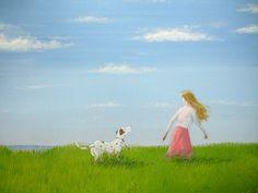 動物画「海辺の草原」[昇] | ART-Meter