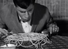 Jerry Lewis Eating spaghetti in My Friend Irma goes West (1950)