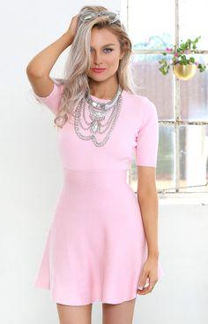 Peggy Skater Dress Pink   Beginning Boutique