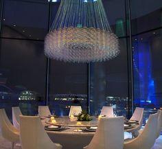 Yas Viceroy Hotels in Abu Dhabi  features Skylite Lounge for dinner #yasviceroy #hotelsinabudhabi #abudhabihotels #modernhotels #modernhotelsdesign