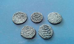 FIVE  SCARCE OTTOMAN TURKISH SILVER ACKHE COINS - http://coins.goshoppins.com/medieval-coins/five-scarce-ottoman-turkish-silver-ackhe-coins/