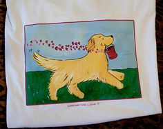 Image result for whimsical art golden retriever
