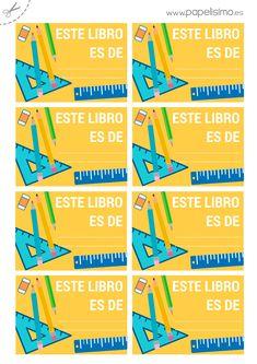 ¿Estás ya preparando la vuelta al cole  Os traigo un pack gratuito de  horario y etiquetas para libros y material escolar listo para imprimir 08709c5fa98f7