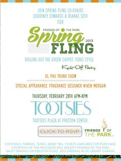 Friends of the Park Spring Fling 2013 Kick-Off Party - Eventbrite