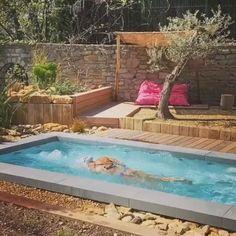 Pool Spa, Small Swimming Pools, Small Pools, Swimming Pools Backyard, Swimming Pool Designs, Pool Landscaping, Lap Pools, Pool Decks, Small Indoor Pool