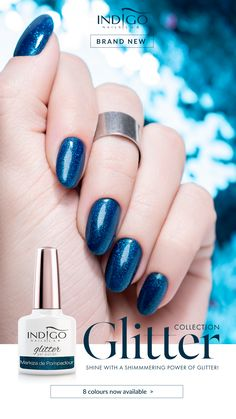 Markiza de Pompadour – Refined manicure, full of class and chic? You can achieve this with Markiza De Pompadou shade! A piercing shade of blue witha generous addition of glitter! Mermaid Effect, Nail Lab, Gel Polish Manicure, Indigo Nails, Nail Effects, Pompadour, Shades Of Blue, Piercing, Nailart