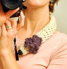 Ravelry: Crochet Camera Strap Cover pattern by Rachel B. Brown. Free pattern.
