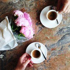 Flores, café, companhia <3