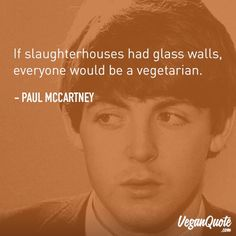 """If slaughterhouses had glass walls, everyone would be vegetarian."" – Paul M … – # glass walls # would have # slaughterhouses ""If slaughterhouses had glass walls, everyone would be vegetarian."" – Paul M … – # glass walls # would have # slaughterhouses Vegetarian Quotes, Vegetarian Starters, Vegan Quotes, Vegetarian Lifestyle, Going Vegetarian, Going Vegan, Vegan Vegetarian, Vegetarian Facts, Vegan Food"