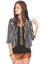 striped woven jacket $22.80