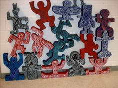 A great idea for a middle school sculpture lesson....I love how the teacher stacked them.