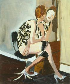 Chantal Joffe (British, b. 1969), Untitled, 2003. Oil on board, 61 × 51 cm.