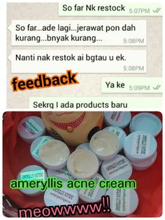 Thanks for my dear customer updated ameryllis acne cream saying that her face getting improved and pimple reduce lot. So what are u waiting for? Fast order now ler price rm30 west east rm40 free pos laju for 10g..  wechatjoey2383 or whatsapp0123757185 www.ameryllisnatureskincare.wordpress.com #acnecream #testimonial #bestselling #Malaysia #effective