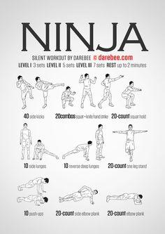 Ninja - Darebee workout                                                                                                                                                                                 More