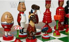 Robin & Nell Dale Chess Pieces Red Queen