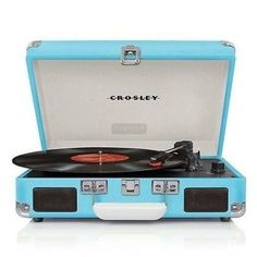 Crosley CR8005A-TU Cruiser 3 Speed Portable Turntable Record Player Turquoise in Consumer Electronics, TV, Video & Home Audio, Home Audio Stereos, Components | eBay