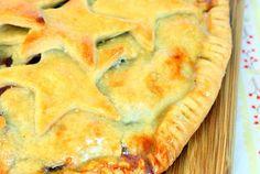 Free Form Cherry Pie with Cream Cheese Crust