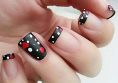 100 Purity Polka Dot Nail Designs For Trendy Girls Fancy Nails, Trendy Nails, Hot Nails, Hair And Nails, Hot Nail Designs, Polka Dot Nails, Polka Dots, Nagel Gel, Fabulous Nails