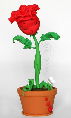 The ROSE: Love, Admiration, Beauty. Red color symbolizes true love and Passion