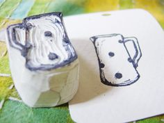hand carved stamp WHAT am I waiting for?!!  Now that I know how to do this, I need to make some of these fun stamps~  :D