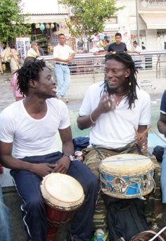 African Heritage busking in Athens, Greece