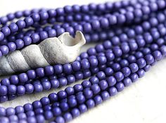 Czech pearl beads Full Strand  Plum Violet  faux by MayaHoney