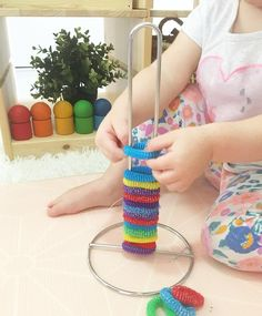 Color matching plus fine motor skills with popsicle sticks color fine matching motor popsicle skills sticks Montessori Toddler, Young Toddler Activities, Montessori Activities, Toddler Play, Infant Activities, Activities For Kids, Early Childhood Activities, Montessori Bedroom, Baby Sensory Play