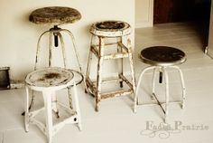 industrial stools - can't get enough of them!!!