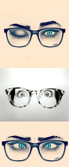 In drawings or reality, we look better with #glasses. Find your perfect glasses at http://www.smartbuyglasses.com/designer-eyeglasses.htm