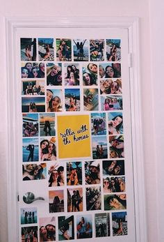 These dorm room photo wall ideas could transform your living space! Our list of dorm room photo wall ideas is sure to inspire! Cute Room Ideas, Cute Room Decor, Teen Room Decor, Diy Room Ideas, Decor Ideas, Room Wall Decor, Living Room Decor, Living Spaces, Photowall Ideas