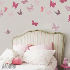 So whimsical and cute for a little girls room - love the bed head too!