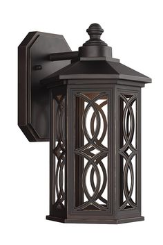 Ormsby Small LED Outdoor Wall Lantern by Sea Gull Lighting: Brings modern technology to a traditional style. The sophisticated Antique Bronze with removable etched glass panels on this design will be sure to bring a classic touch outdoors. Made from die-cast aluminum, this outdoor fixture is able to withstand extreme weather conditions. Perfect for your front or back porch.