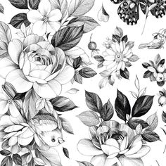 Search inspiration for a Blackwork tattoo. Flor Tattoo, 1 Tattoo, Cute Tattoos, Leg Tattoos, Sleeve Tattoos, Tattoo Designs And Meanings, Tattoo Sleeve Designs, Blackwork, Feminine Tattoo Sleeves