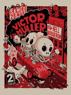 Silkscreen posters by Victor Marco, via Behance